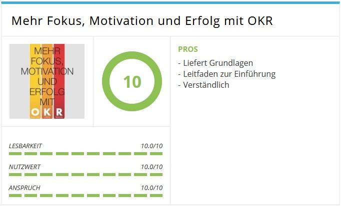 Daiyû Steiner, André; Mehr Fokus, Motivation und Erfolg mit OKR