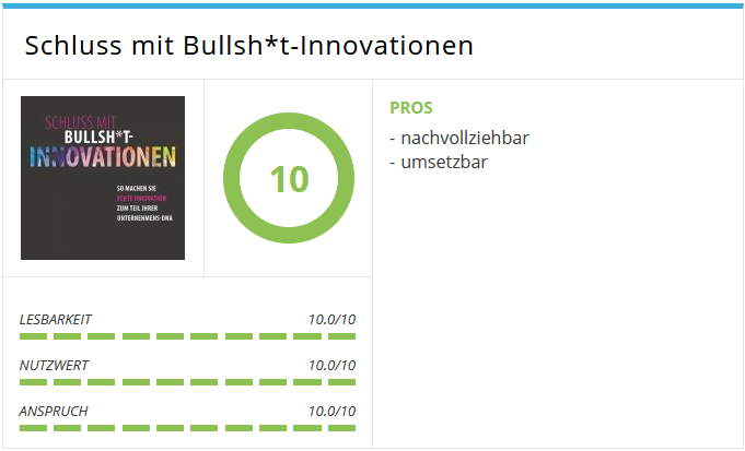 Prommer; Schluß mit Bullsh*t-Innovationen
